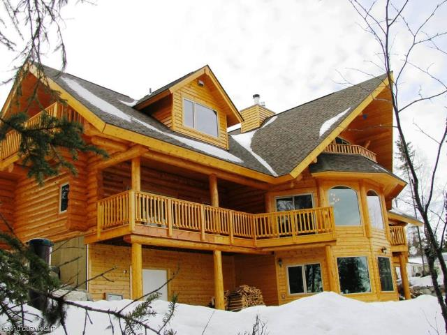 Homer alaska real estate luxury log home on the kenai river for Home builders alaska
